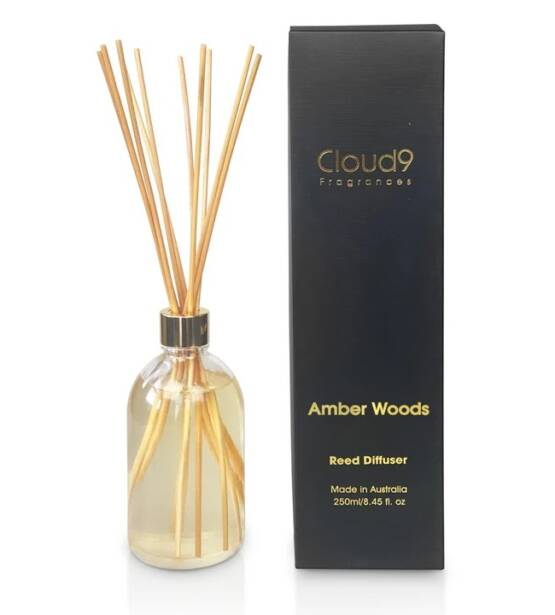 Cloud Nine Fragrances Amber Woods Reed Diffuser