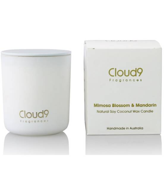 Cloud Nine Fragrances Mimosa Blossom Mandarin Scented Candle 1024x